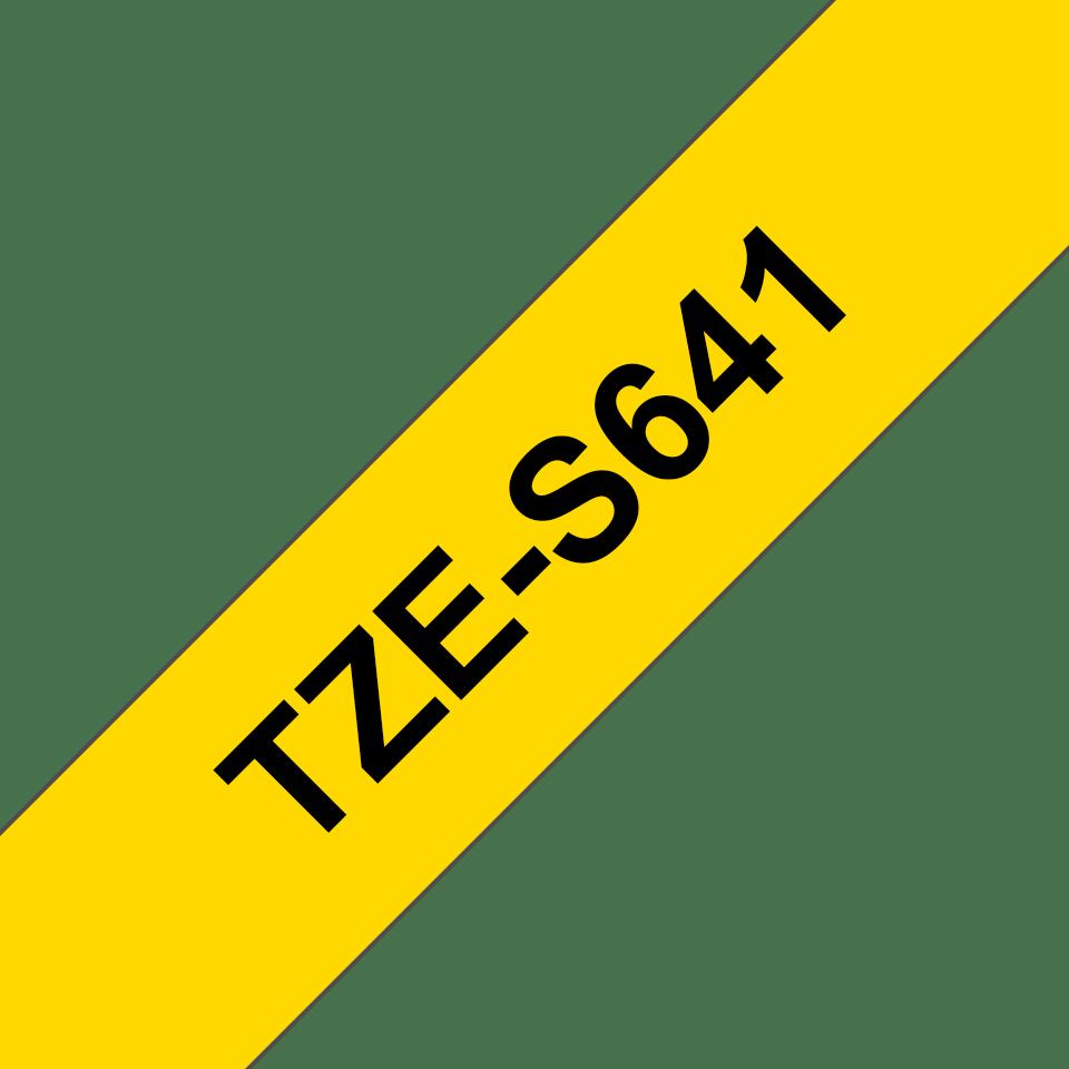Cassette à ruban pour étiqueteuse TZe-S641 Brother originale – Noir sur jaune, 18mm de large 3