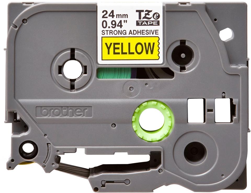 Cassette à ruban pour étiqueteuse TZe-S651 Brother originale – Noir sur jaune, 24mm de large 0