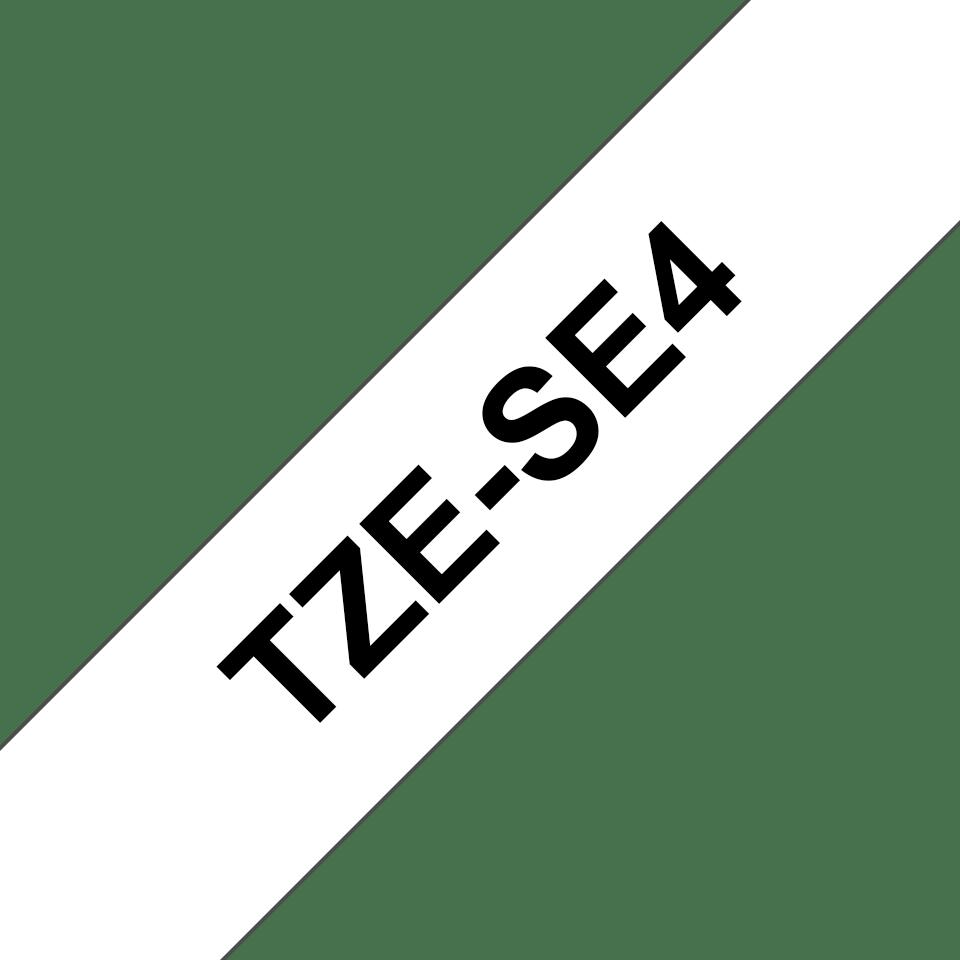 Cassette à ruban pour étiqueteuse TZe-SE4 Brother originale – Noir sur blanc, 18mm de large 3