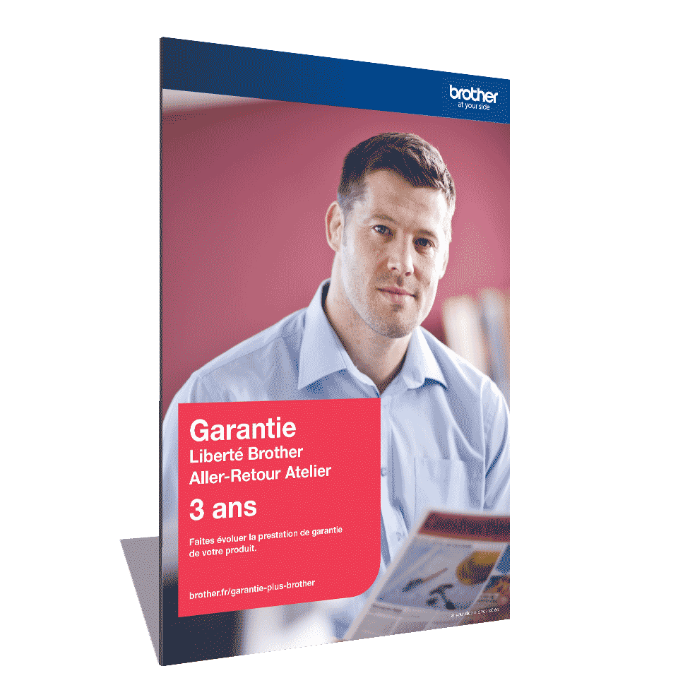 Extension Garantie Plus Liberté Brother - Aller-Retour Atelier - 3 ans - GLIB3ARC