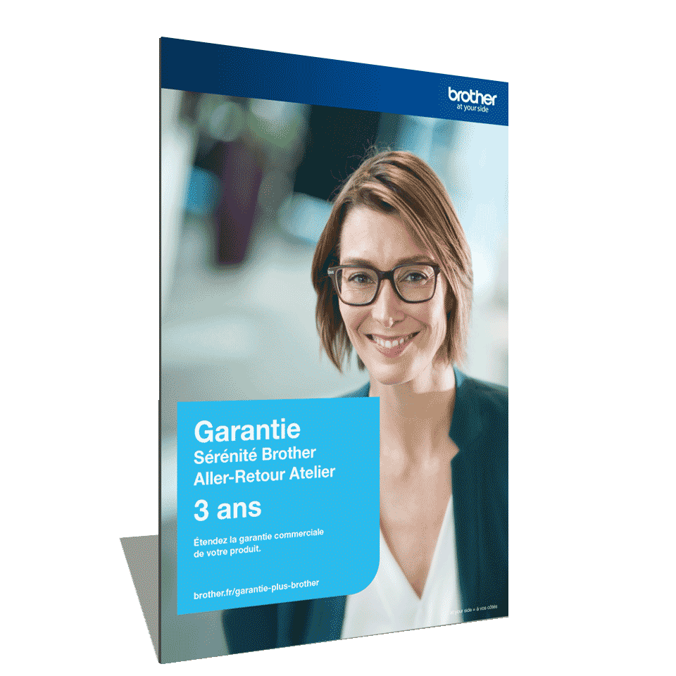 Extension Garantie Plus Sérénité Brother - Aller-Retour Atelier - 3 ans - GSER3ARC