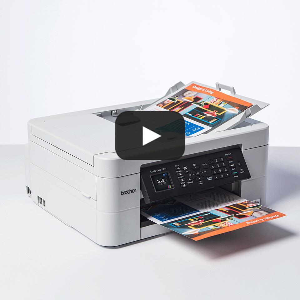Imprimante jet d'encre couleur 4-en-1 sans fil MFC-J497DW 8