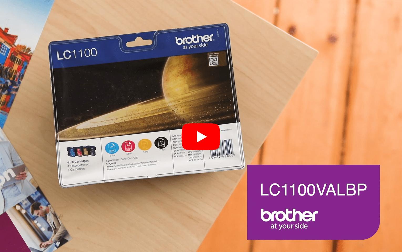 Pack de cartouches d'encre LC1100VALBP Brother originales 5