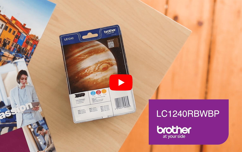 Pack de cartouches d'encre LC1240RBWBP Brother originales – Couleur.  5