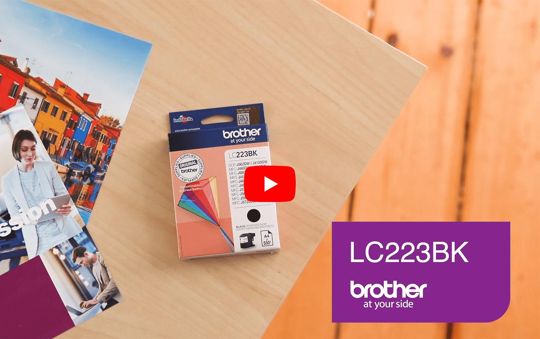 Cartouche d'encre LC223BK Brother originale – Noir  6