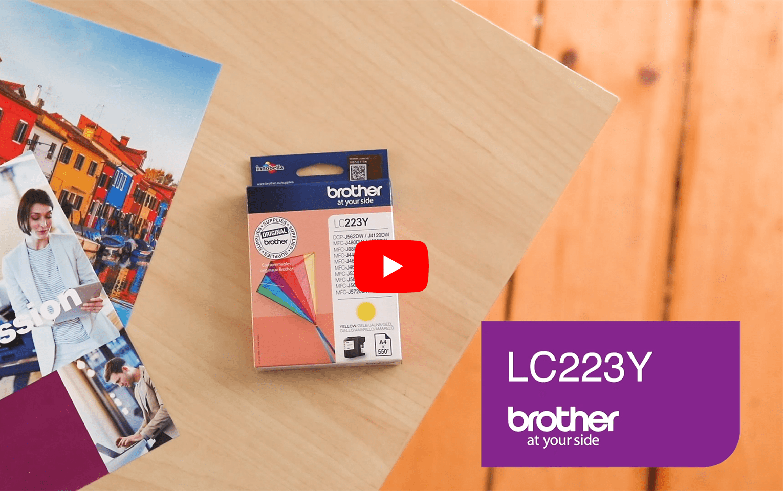 Cartouche d'encre LC223Y Brother originale – Jaune 6
