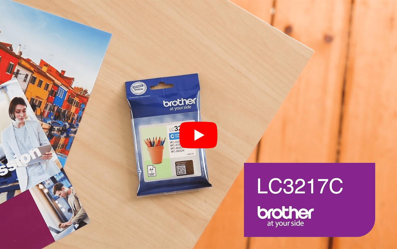 Cartouche d'encre LC3217C Brother originale – Cyan 6