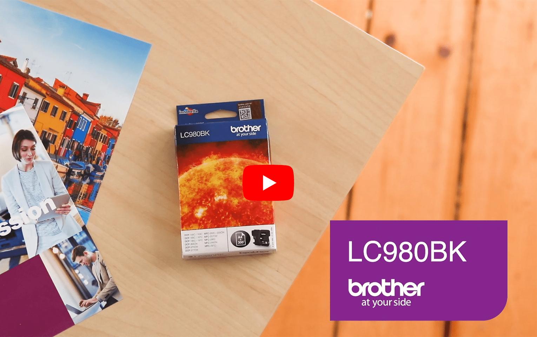 Cartouche d'encre LC980BK Brother originale – Noir  6