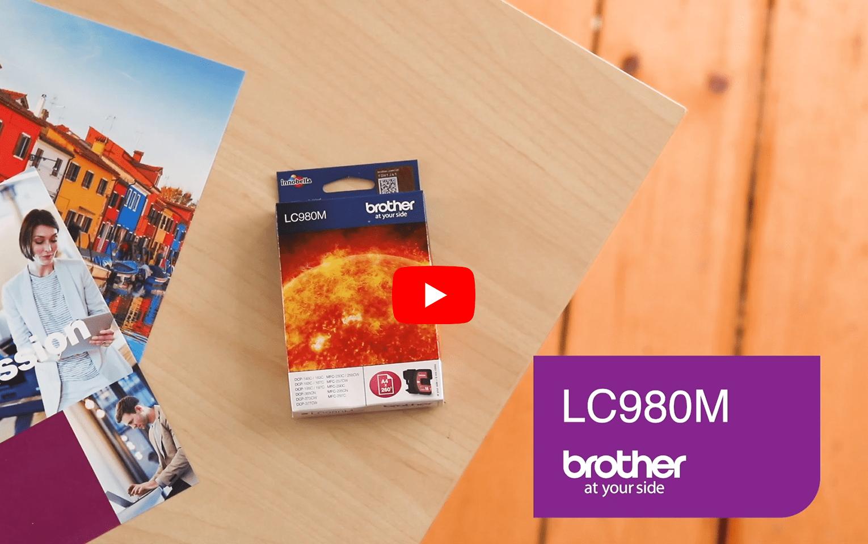 Cartouche d'encre LC980M Brother originale – Magenta 5
