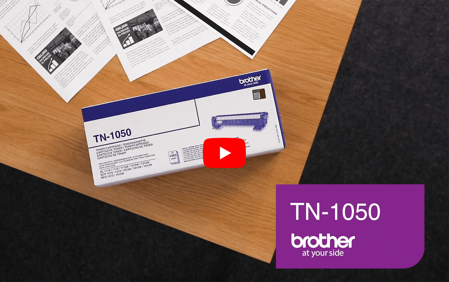 Cartouche de toner TN-1050 Brother originale – Noir  5