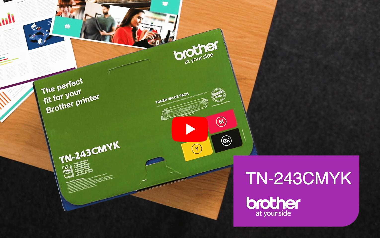 Cartouches de toner TN-243CMYK Brother originales - Pack 4 toners 5